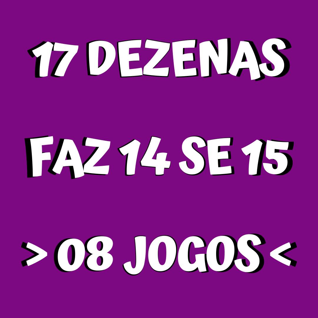 Lotofácil 17 dezenas