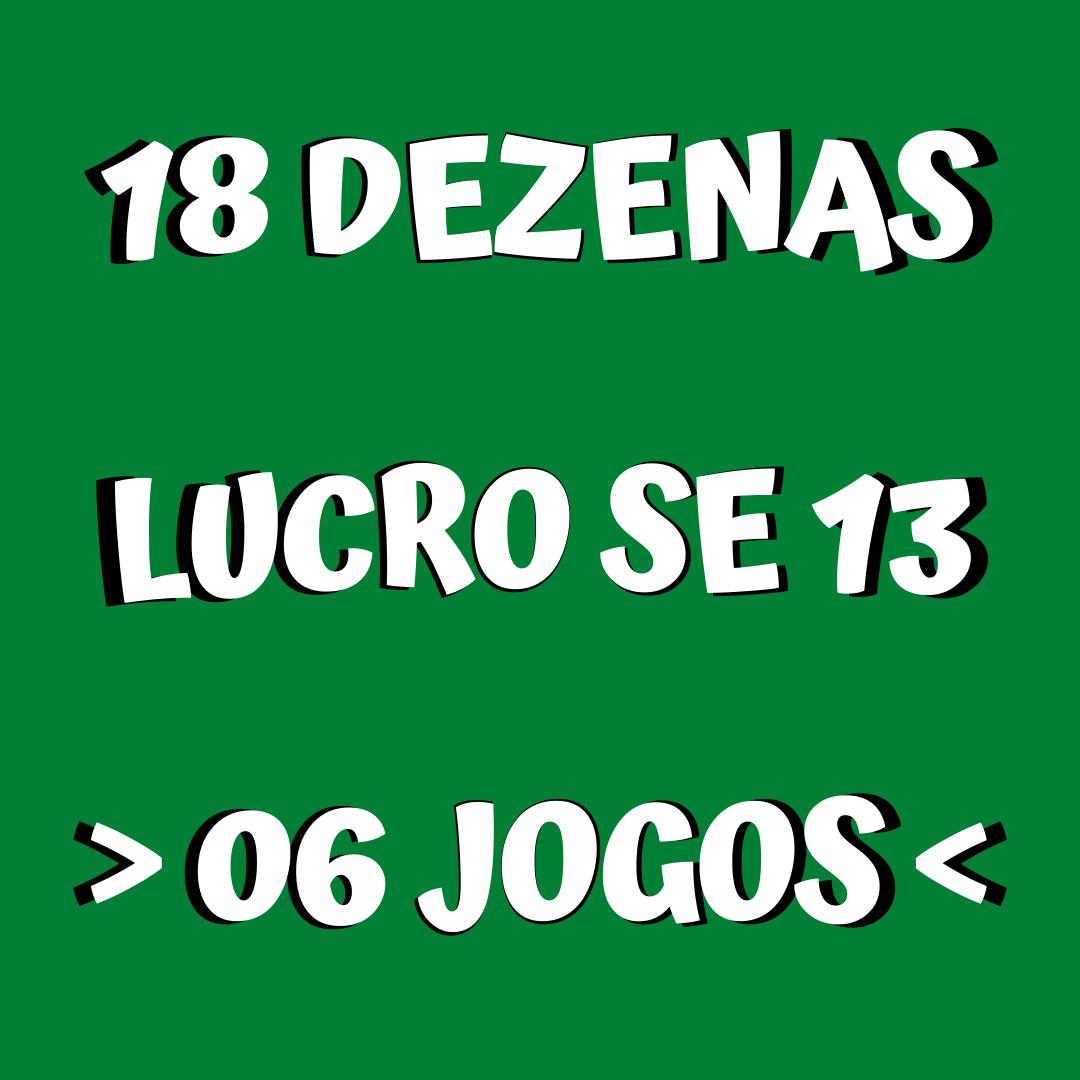 Lotofácil 18 dezenas