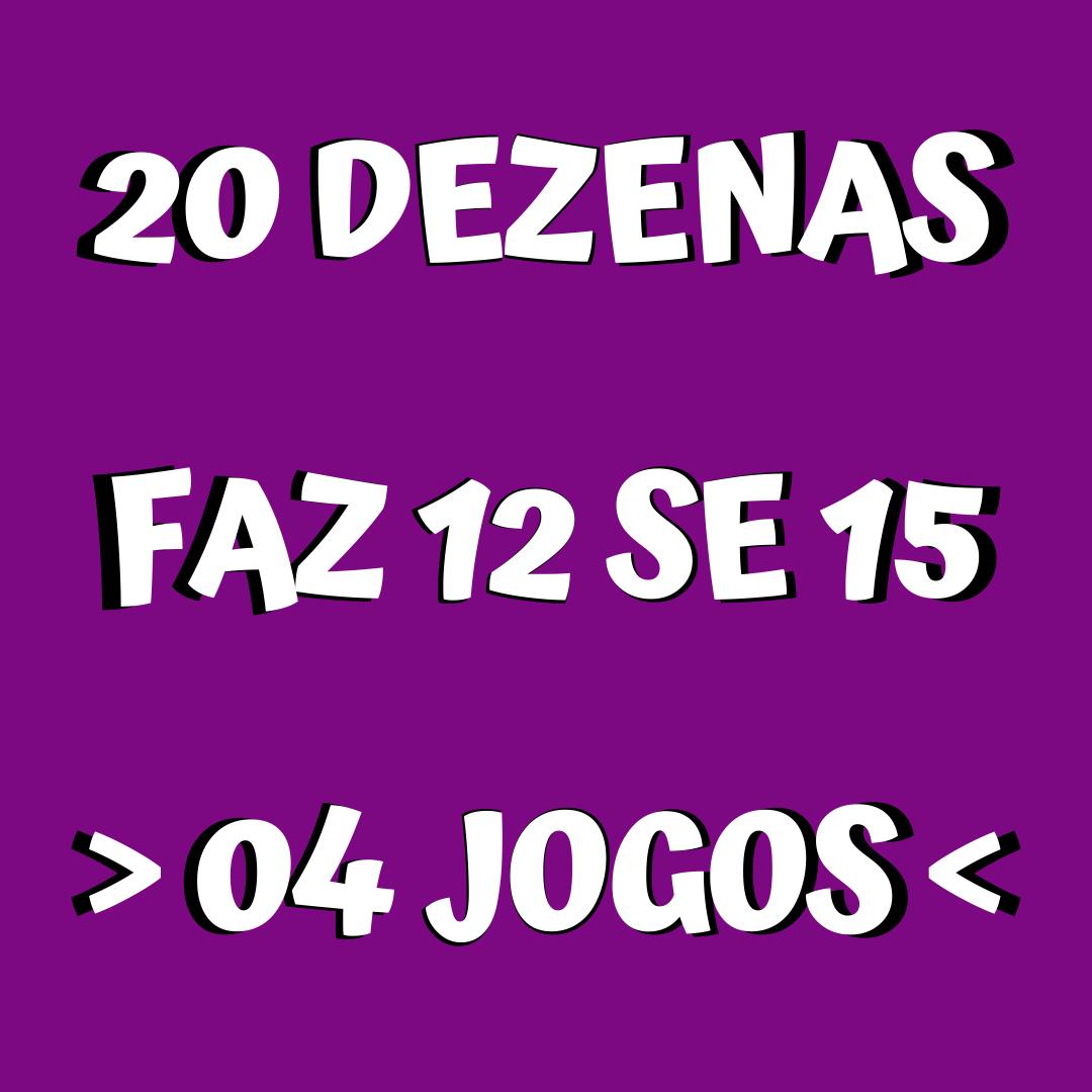 Lotofácil 20 dezenas