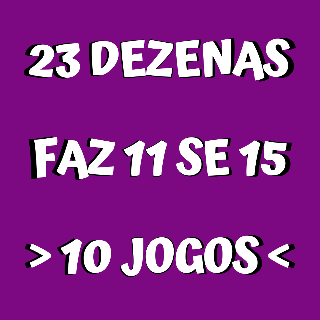 Lotofácil 23 dezenas