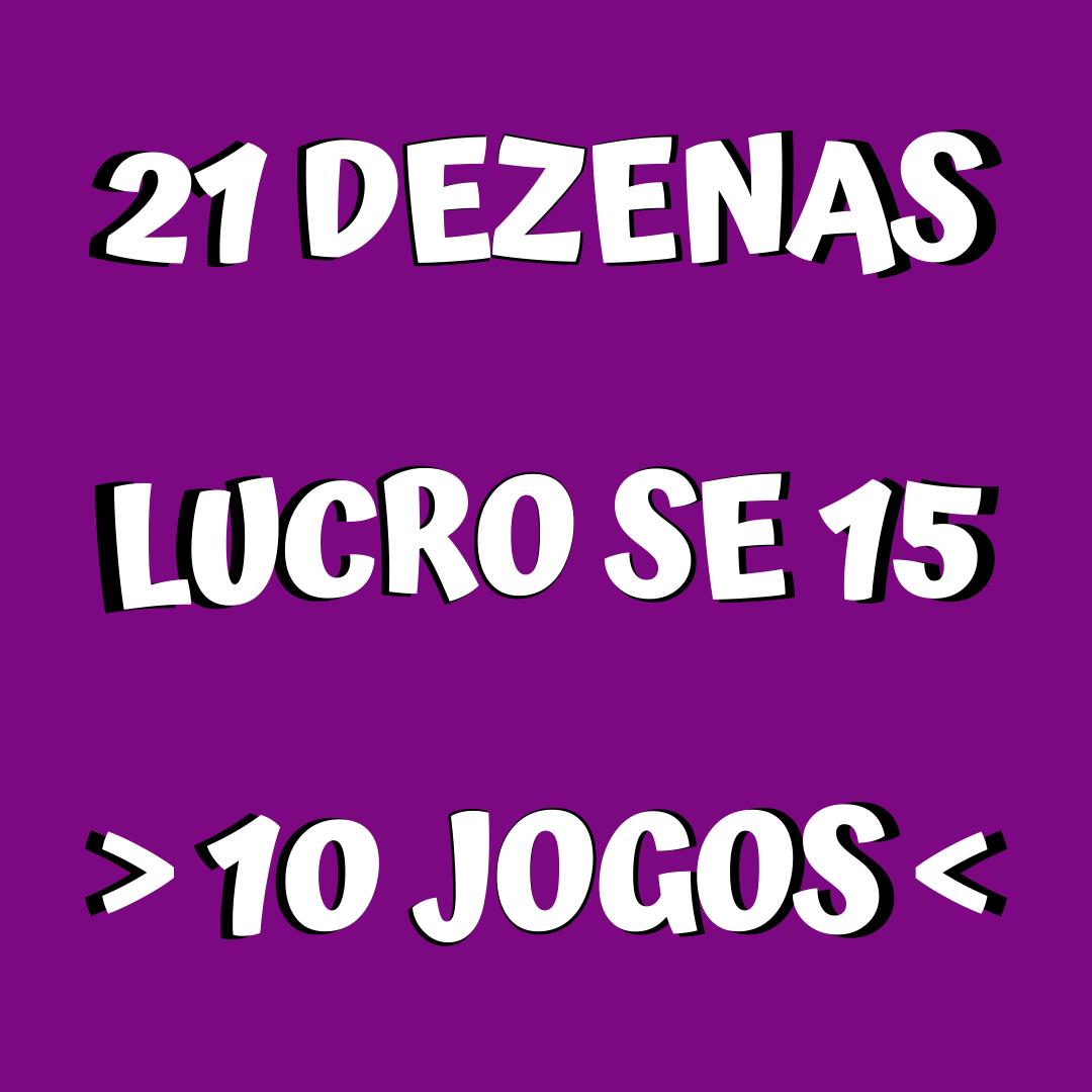Lotofácil 21 dezenas