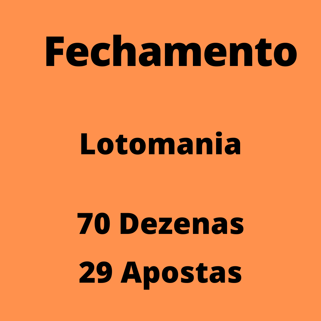 Lotomania 70 dezenas