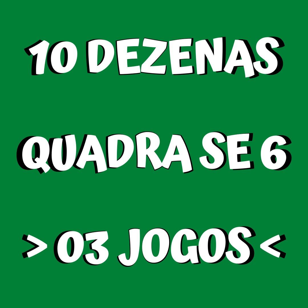 Mega Sena 10 dezenas tres apostas