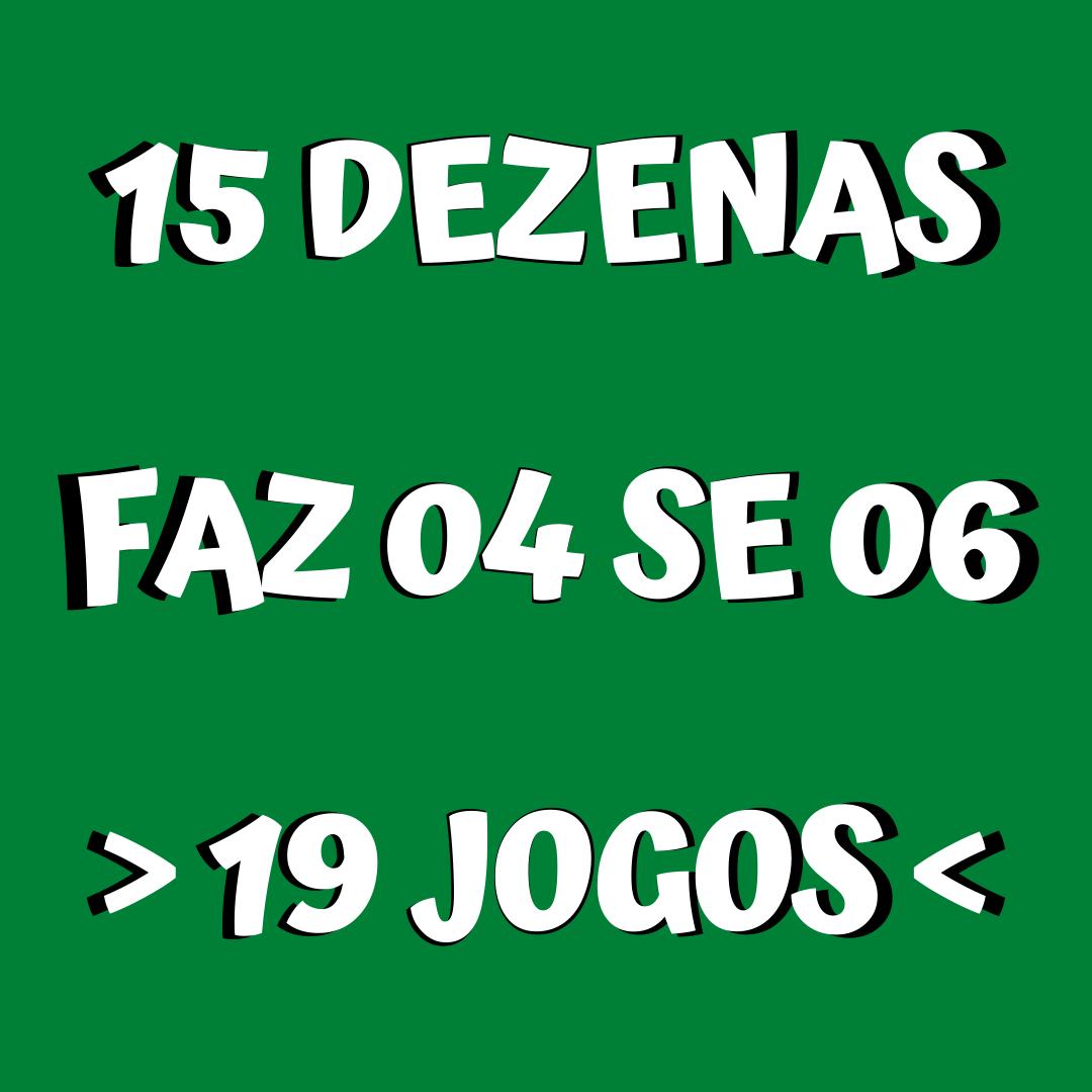 Mega Sena 15 dezenas